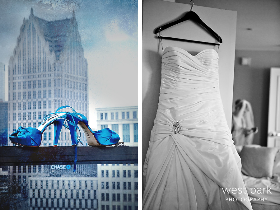 book cadillac wedding1 Kami & Johns Super Fun Detroit Wedding