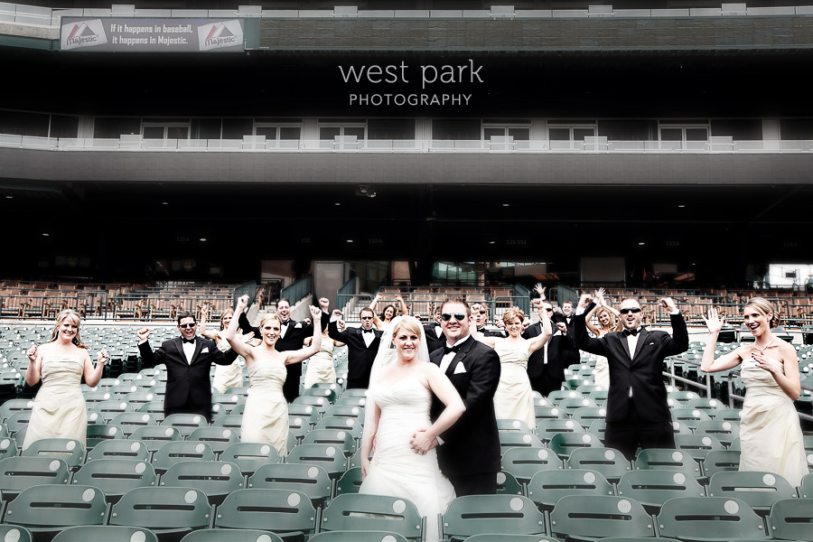 comerica park wedding Kami & Johns Super Fun Detroit Wedding