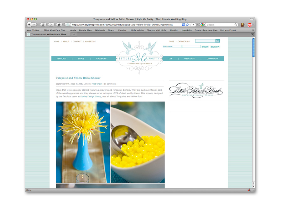 stylemepretty Dooby Designs (and West Park Photo!) Featured on Style Me Pretty!
