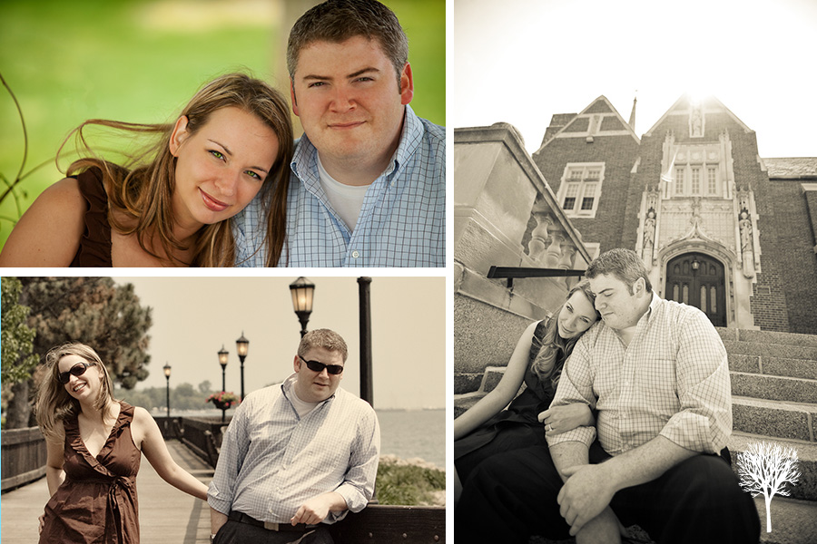 kellyeric3 Engagement Session:  Kelly & Eric  |  Grosse Pointe Wedding Photographers