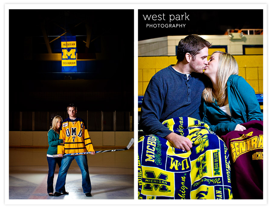 DearbornIceArena EngagementSession 02 Hayley + Joels Engagement Session