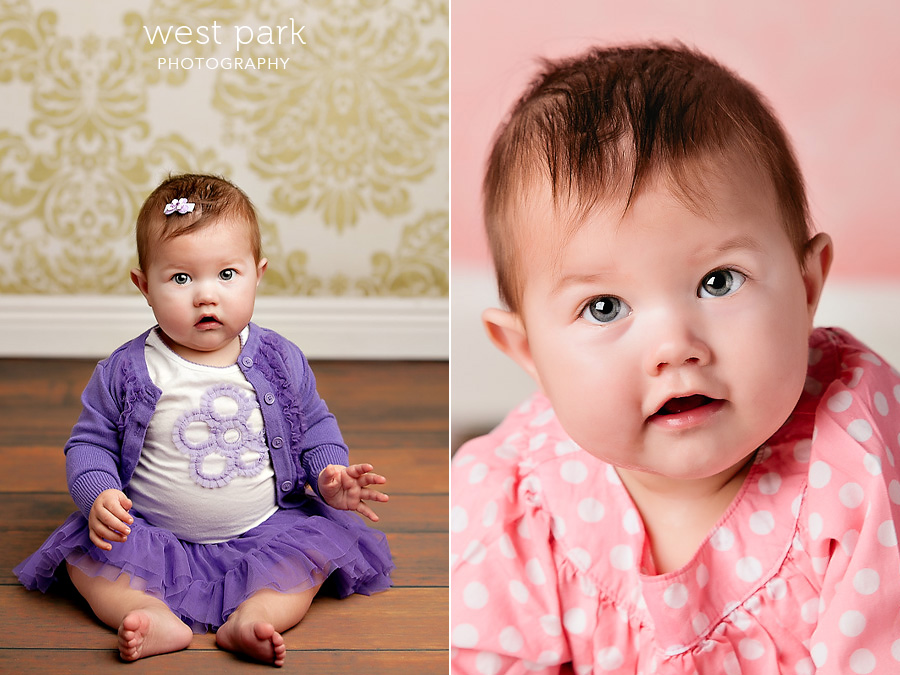 detroit baby photographer 02 Baby Alyssias 8 Month Portrait