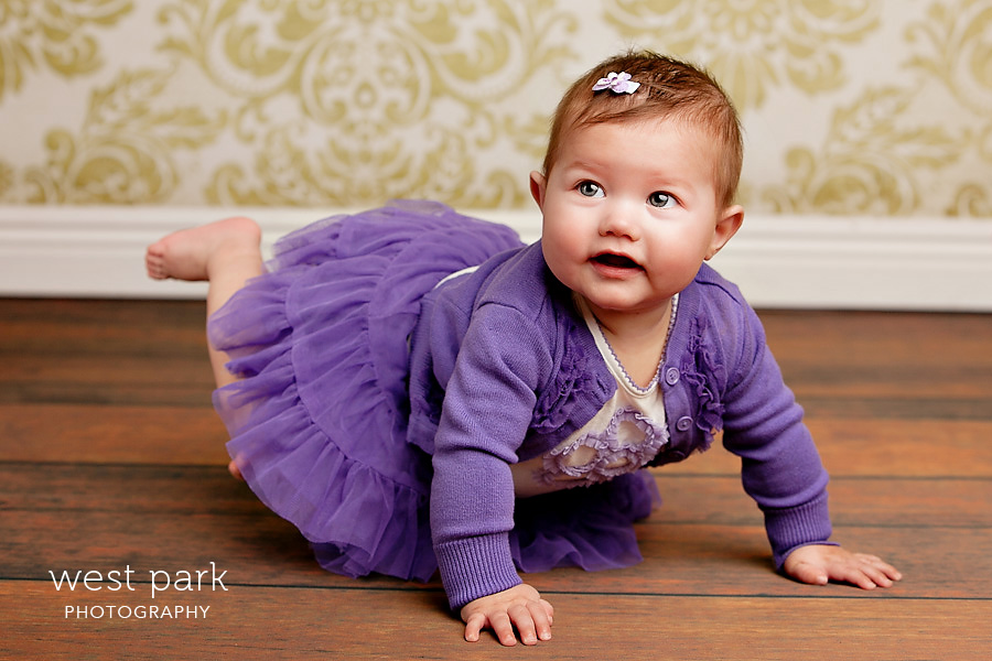 detroit baby photographer 03 Baby Alyssias 8 Month Portrait