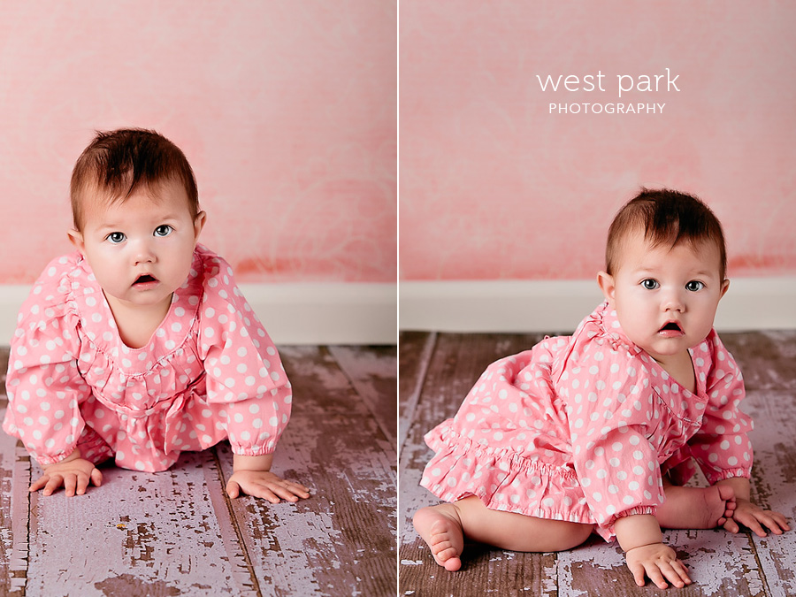 detroit baby photographer 04 Baby Alyssias 8 Month Portrait
