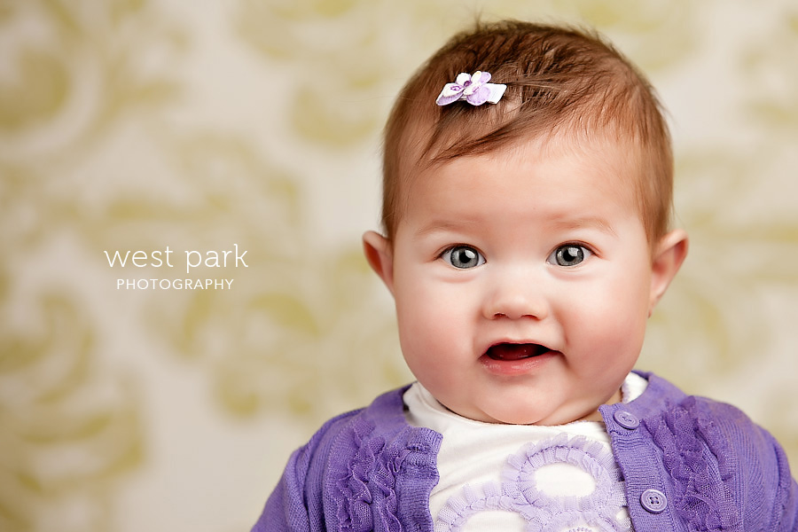 detroit baby photographer 05 Baby Alyssias 8 Month Portrait