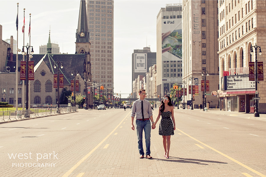 Crystal & Sam | Downtown Detroit Engagement
