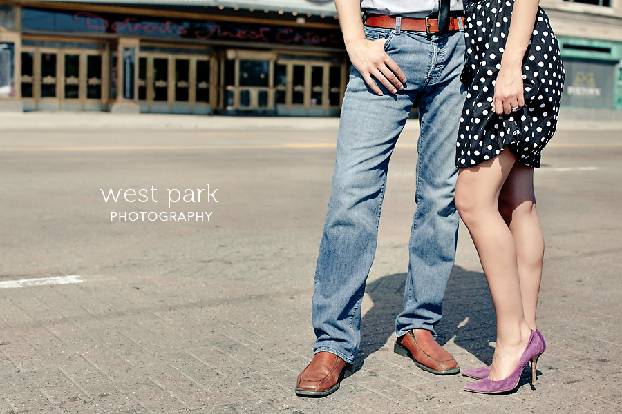 detroit engagement session fox 4 Crystal & Sam | Downtown Detroit Engagement