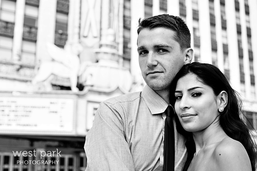 detroit engagement session fox 6 Crystal & Sam | Downtown Detroit Engagement