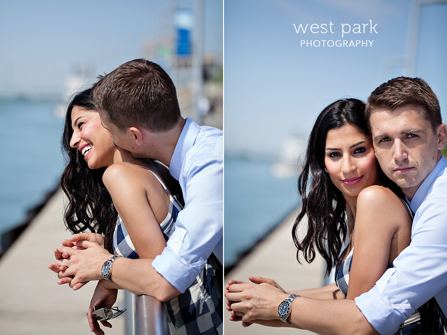 detroit engagement session riverfront 1 Crystal & Sam | Downtown Detroit Engagement