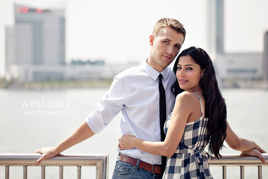 detroit engagement session riverfront 2 Crystal & Sam | Downtown Detroit Engagement