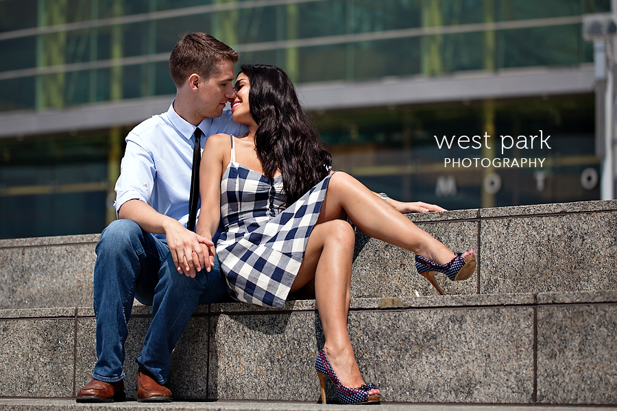 detroit engagement session riverfront 4 Crystal & Sam | Downtown Detroit Engagement