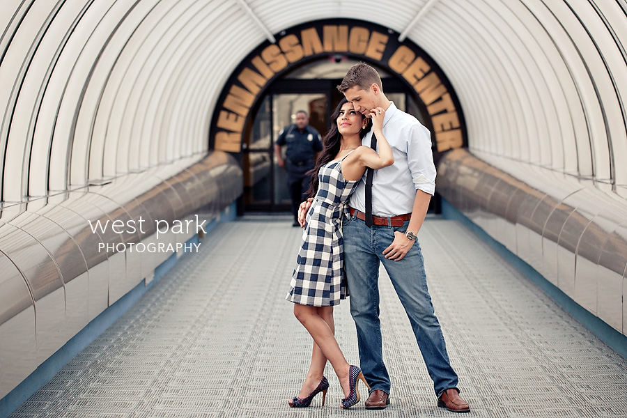 detroit engagement session riverfront 8 Crystal & Sam | Downtown Detroit Engagement