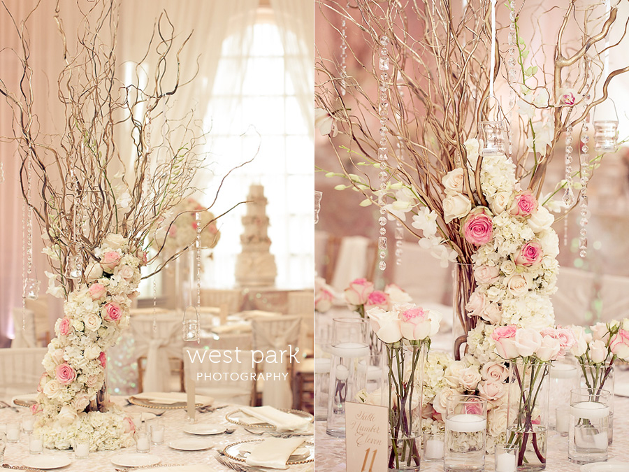 elegant pink detroit wedding reception 02 Pink & Gold Wedding Inspiration