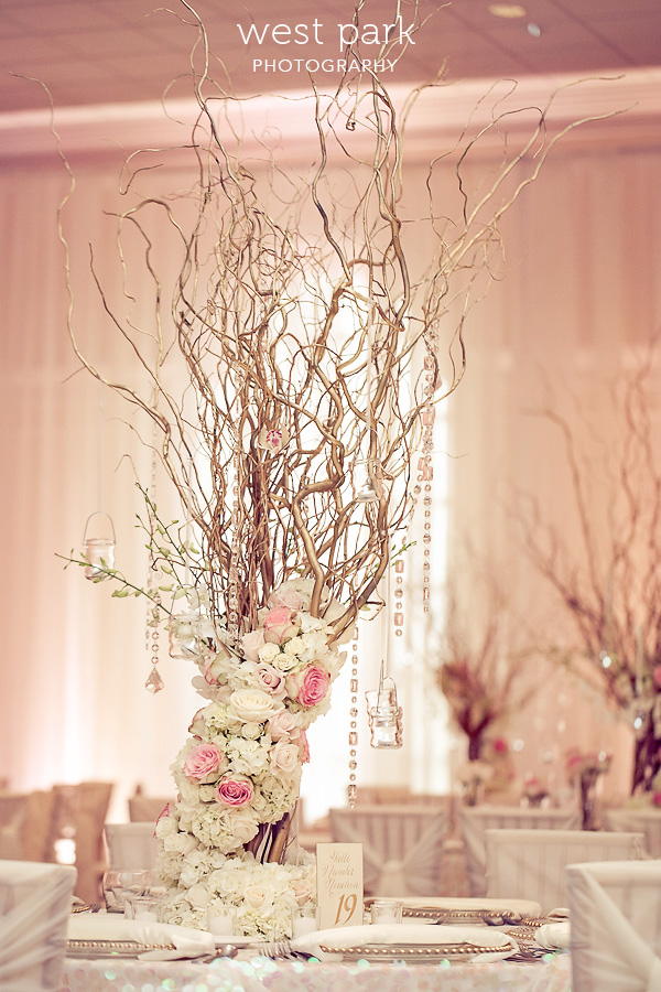 elegant pink detroit wedding reception 03 Pink & Gold Wedding Inspiration