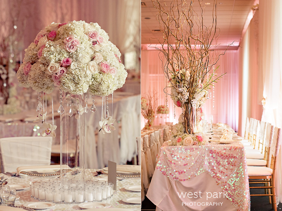 elegant pink detroit wedding reception 05 Pink & Gold Wedding Inspiration