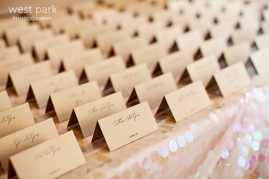 gold placecards wedding Pink & Gold Wedding Inspiration