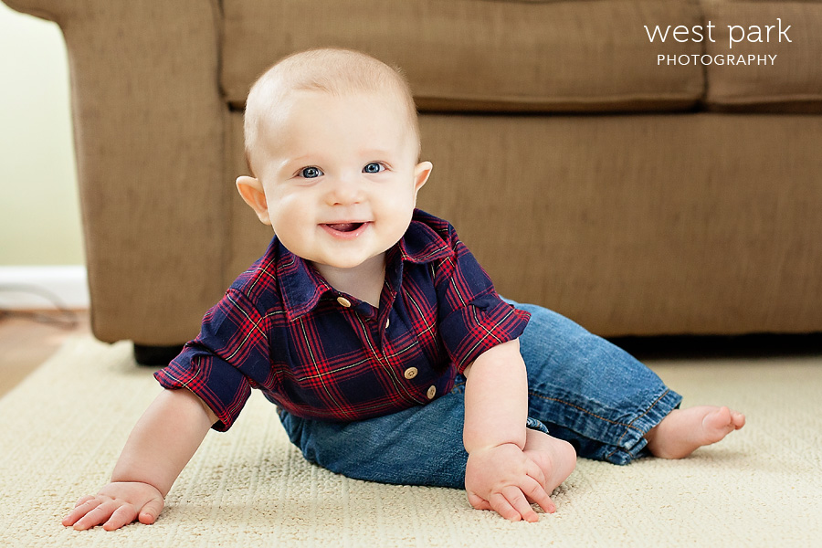 Logan's Six Month Portrait