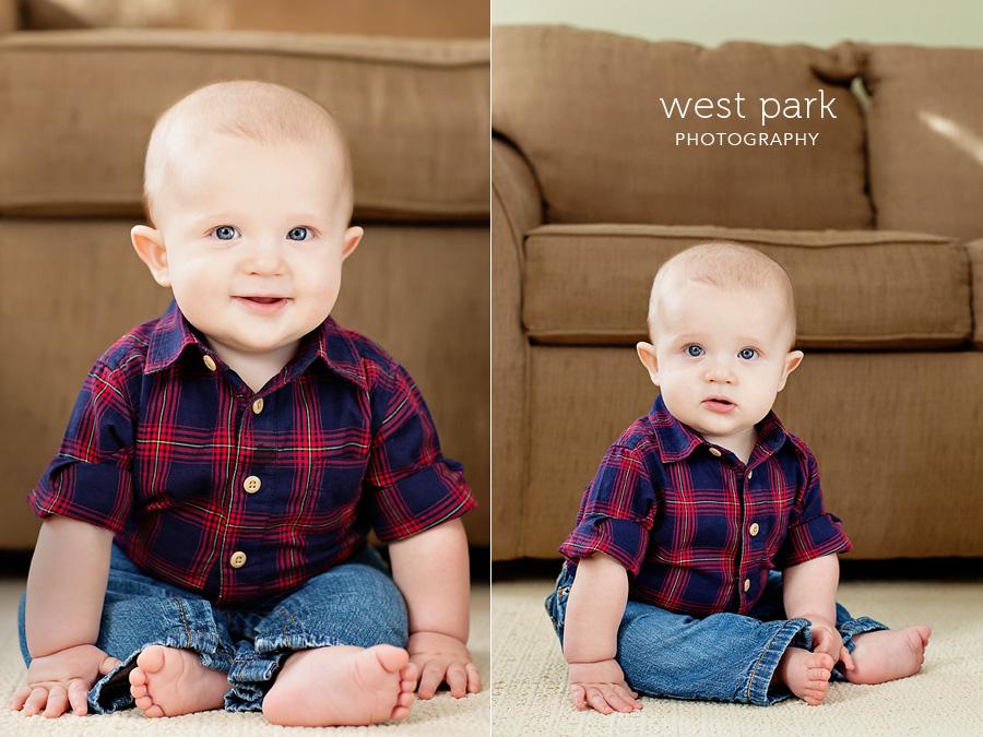 logan detroit childrens photo 02 Logans Six Month Portrait