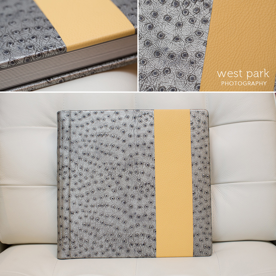 silver grey yellow wedding album 01 Album Friday:  Two More Beautiful Books!