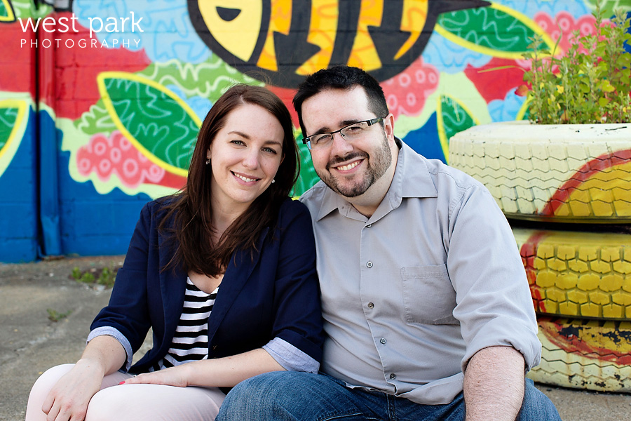 Stephanie + Nick's Fun Detroit Engagement Session