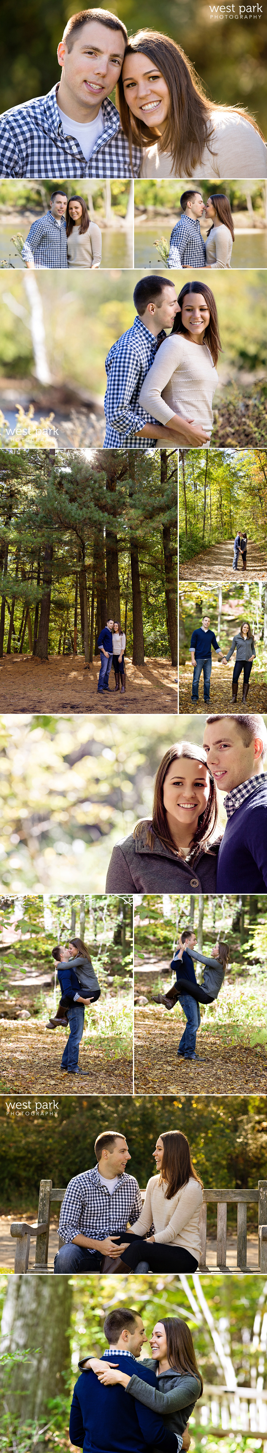 Nichols Arboretum Ann Arbor Engagement2 Jennifer + Alex  |  Ann Arbor Engagement Session at Nichols Arboretum